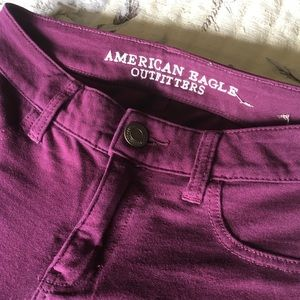 American Eagle Outfitters maroon jeggings 00 Reg.